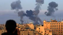 Israel ramps up airstrikes as barrage of rockets from Gaza continues