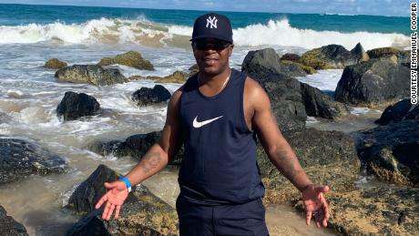 Cooper on vacation. He said his faith in God helped him make it through 27 years in prison.