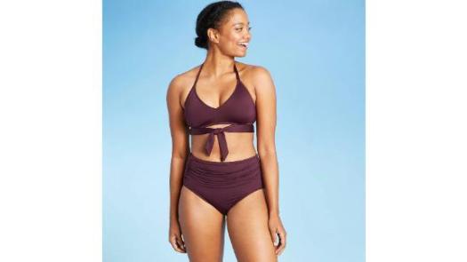 Kona Sol Shirred Classic Bikini Bottom