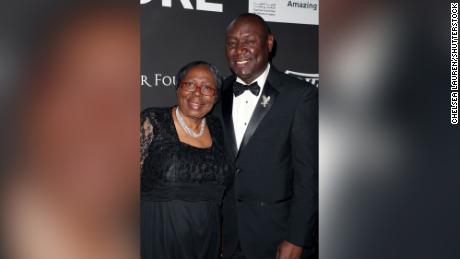 Benjamin Crump with his mother, Helen Crump, at a gala at The Wiltern in Los Angeles on January 15, 2020.