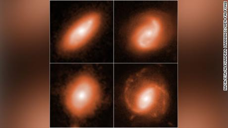 Hubble captured images of host galaxies where the fast radio bursts were traced.