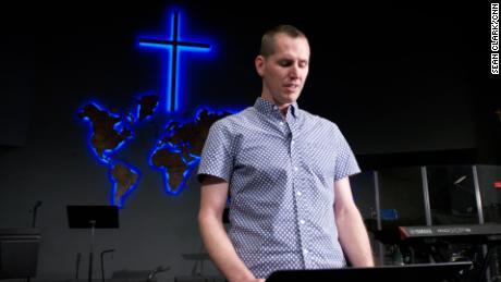 James Kendall is the Senior Pastor at Grace Community Church in Madera, California. Kendall gave a sermon at his church warning congregants about QAnon. (Sean Clark/CNN)