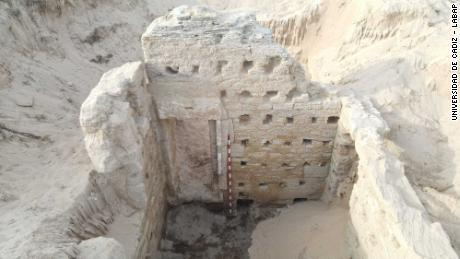 Ancient Roman bath complex discovered on beach in southern Spain