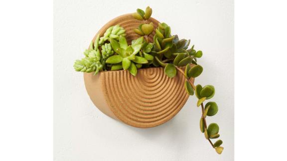 Wall-Mounted Stoneware Planter