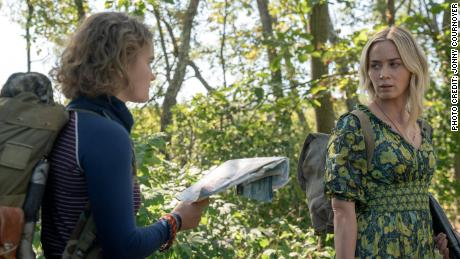 Millicent Simmonds and Emily Blunt in 'A Quiet Place Part II' (Johnny Cournauer / Paramount).