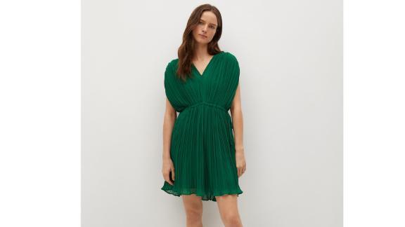 Mango Plissee Kurzes Kleid