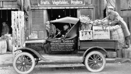 The Ford Model T Runabout with a steel truck bed is generally credited as the first factory-built pickup in America.