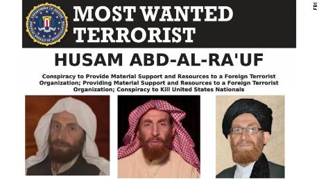Husam Abd-al-Rauf is seen in an FBI most wanted poster, issued in 2019.