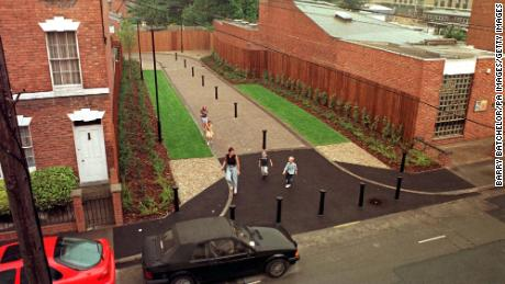 A public walkway was built on the former site of Fred and Rosemary West's home at 25 Cromwell Street in Gloucester.