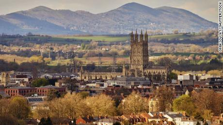 The historic city Gloucester and its cathedral, in southwest England.