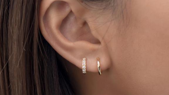 Pave Huggie Earrings