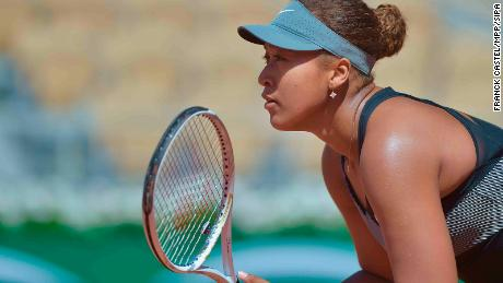 Osaka defeated Romania's Patricia Maria Tig in straight sets at the French Open on Sunday.