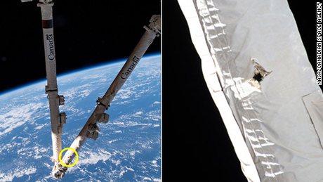 Space junk hits International Space Station, damaging robotic arm