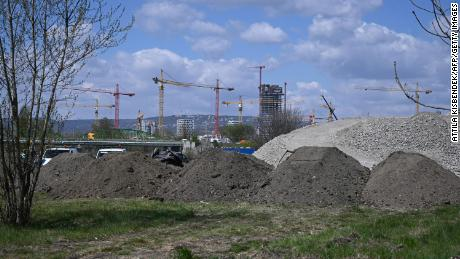 The Fudan campus is planned for construction at this site in Budapest, Hungary, seen on April 23, 2021.