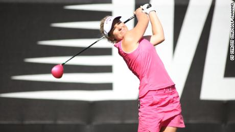 Carlborg is pictured playing on the World Long Drive Championship in 2016.