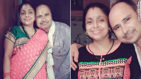 Devika's parents, who both passed away during India's second wave of Covid-19.