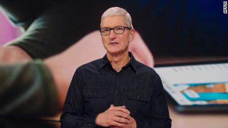 Apple CEO Tim Cook speaks during a keynote to mark the start of WWDC 2021.  The event comes as a renewed scrutiny of how Apple treats app developers is warranted.