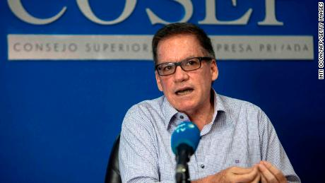 Nicaraguan businessman Jose Adan Agueri photographed during an interview with Agence France-Presse on June 2, 2020 in Managua.