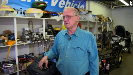 Darus Zehrbach is a small business owner in Westover, West Virginia.  His company, ZEV, builds electric motorcycles and other small vehicles.