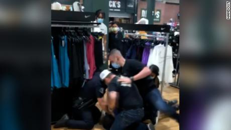Video of the arrest was taken by a bystander.