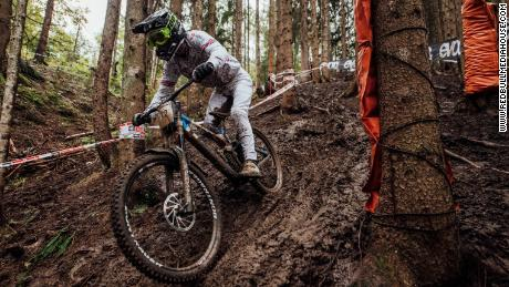 Wilson performs at the UCI DH World Championships in Leogang on 11 October 2020.