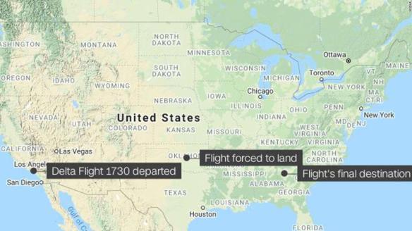 210612103141 map delta flight diverted unruly passenger super tease