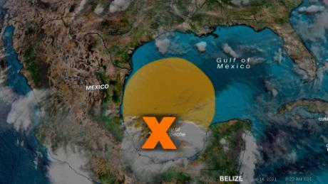 There's a medium chance of tropical development in the Gulf of Mexico during the next few days.