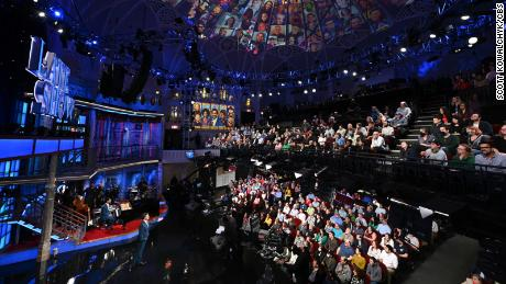 Stephen Colbert in front of an audience. Photo: Scott Kowalchyk/CBS ©2021 CBS Broadcasting Inc. All Rights Reserved.