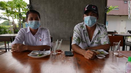 Su and Zaw, migrant workers in Bangkok, Thailand in May 2021.