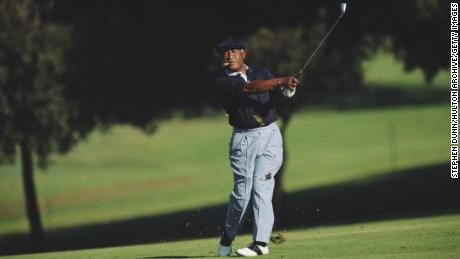 Sifford during the Ralph's Senior Classic tournament on October 21, 1994 at the Rancho Park Golf Course in Los Angeles.