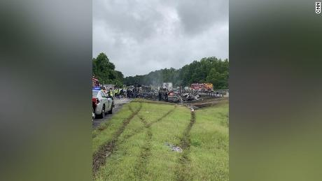 Ten people died in the multi-vehicle crash in Butler County, Alabama on Saturday.