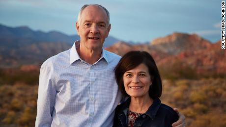 A recent picture of Brad Johnson and his wife Rosie.