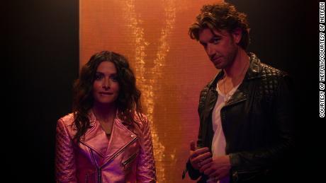 Sarah Shahi and Adam Demos in 'Sex/Life' (Courtesy of Netflix).