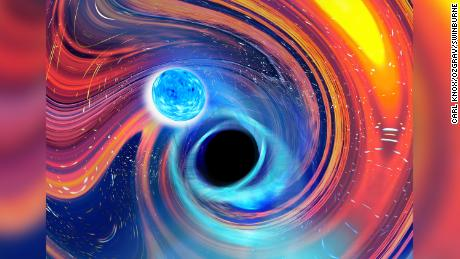 'Pac-Man' in space: Black holes gobble up neutron stars in first evidence of a rare celestial event