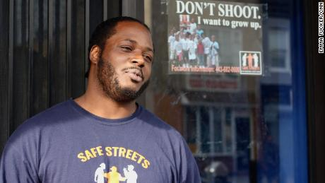 Alex Long, Baltimore resident and violence interrupter at Safe Streets, says members of the community still don't feel the police are there to keep them safe.