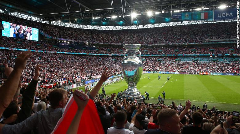 Fans provided an electric atmosphere inside Wembley before kick off.