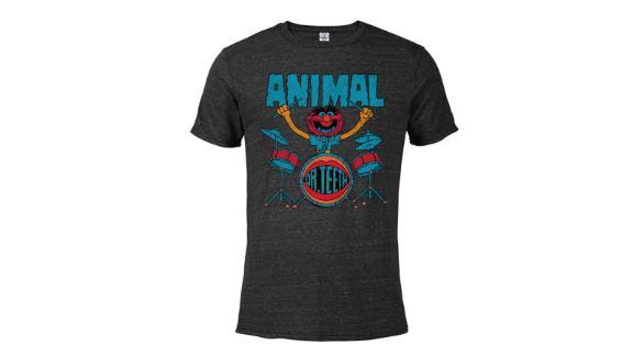 Animal Short Sleeve Blended T-Shirt for Adults