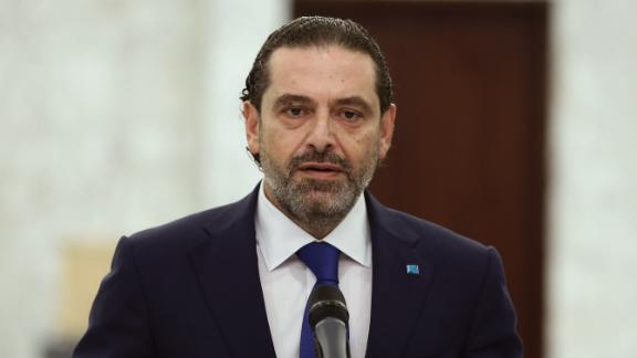 Saad Hariri speaks after his meeting with Lebanese President Michel Aoun at the presidential palace, in Baabda, east of Beirut, Lebanon on July 15.