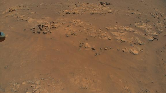"""The Ingenuity helicopter spotted this location on Mars, nicknamed """"Raised Ridges,"""" during its ninth flight, on July 5."""