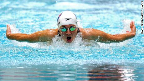 Becca Meyers competes at the US Paralympic Swimming trials on June 19 in Minneapolis.