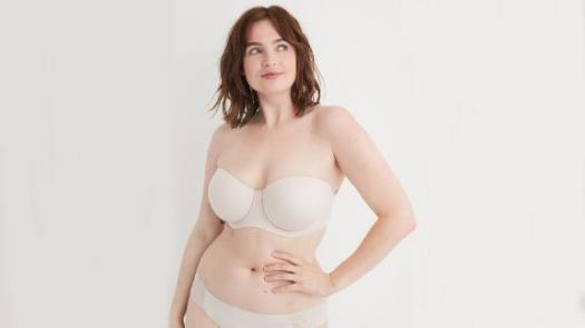 Aerie Real Sunnie Strapless Lightly Lined Bra