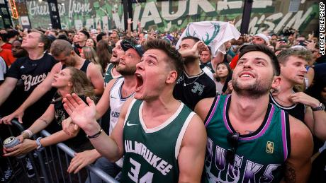 Thousands of fans watched Game 6 just outside the arena.