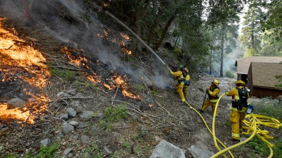 Crews battled the deadly El Dorado wildfire in Southern California that was sparked by a gener reveal party in September 2020.