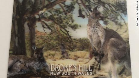 A postcard of the New South Wales town of Broken Hill, sent by the journalist's mother to London.
