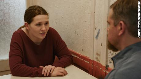Abigail Breslin and Matt Damon in director Tom McCarthy's 'Stillwater';  (Jessica Ford / Focus Features).