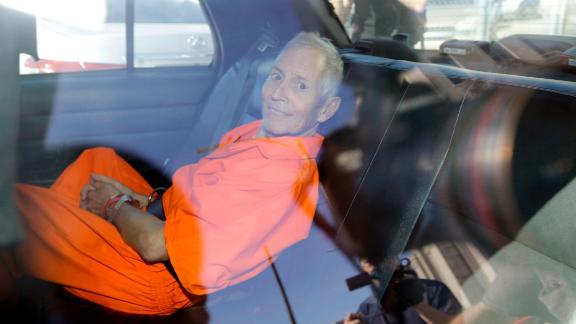 Durst is transported from Orleans Parish Criminal District Court to the Orleans Parish Prison after his arraignment in New Orleans on Tuesday, March 17, 2015. Durst faced felony firearm and drug charges in New Orleans, and was charged with first-degree murder in Los Angeles.