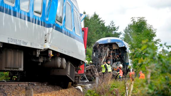 Both the trains involved in the incident were parked on or near the tracks.