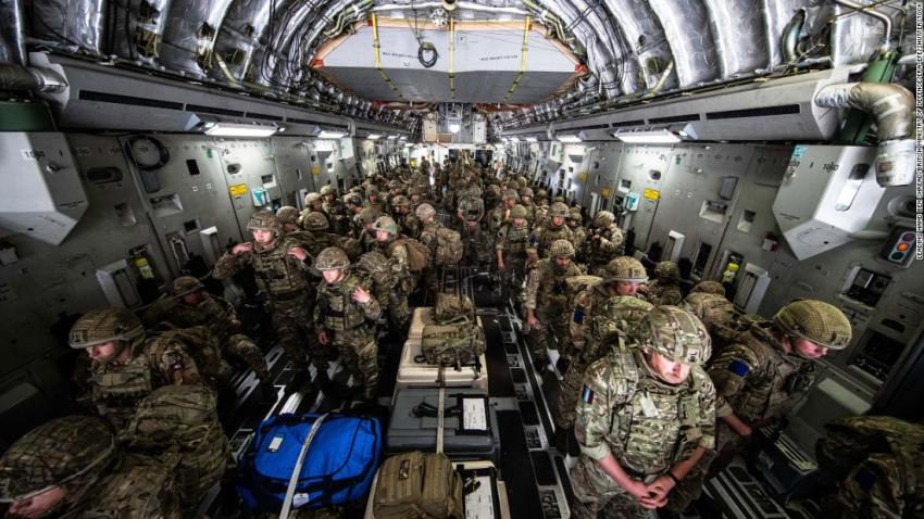 British forces arrive in Kabul on August 15 to assist British nationals in evacuating the city.