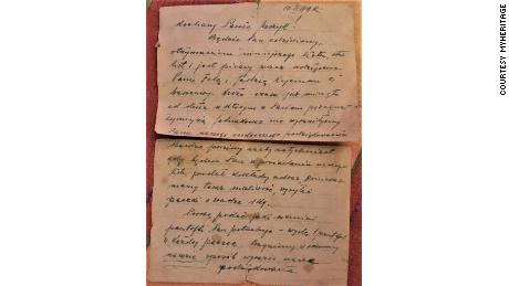 The letter had recently been discovered by Jurzyk's father, but the old-style Polish made it difficult to decipher.