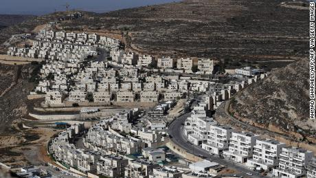 A view of the Israeli settlement of Givat Zeev, near the West Bank city of Ramallah, last November.